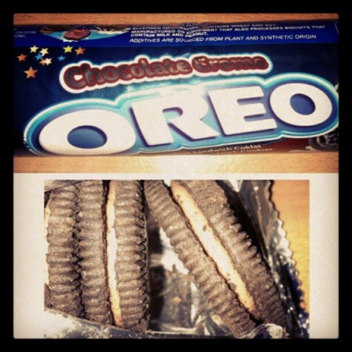 Om nom me choco Oreo. (Taken with instagram)