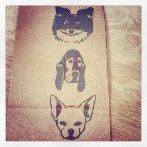 Literal doggy bag :)  #dogs #funny #lol  (Taken with instagram)