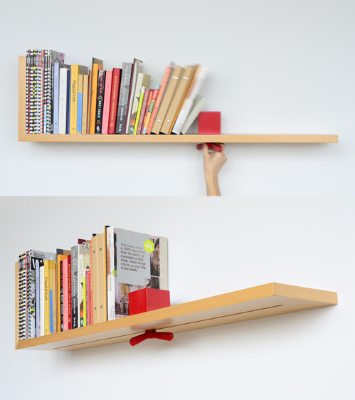 mduart:  nevver:  Hold on tight book shelf  Fantástico!!! Eu quero!!