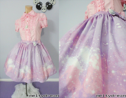 meltydream:  PASTEL GALAXY SKIRTS NOW AVAILABLE FOR ORDER! please click here for all details and options ☆彡