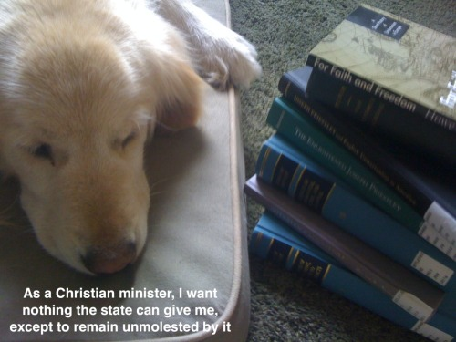 Seminary dog thinks more ministers should study Joseph Priestley's critique of religious establishments.