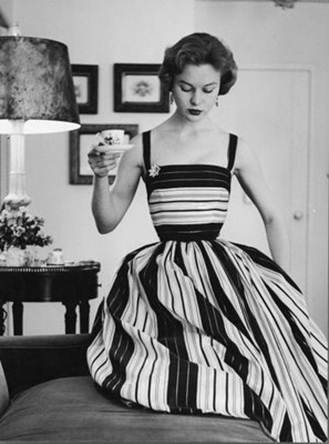 INSPIRATION NATION  Stripes and tea are alright with me.