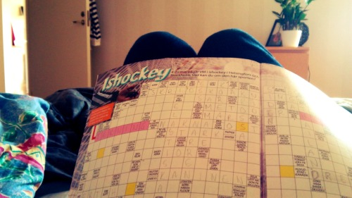Crossword puzzles.