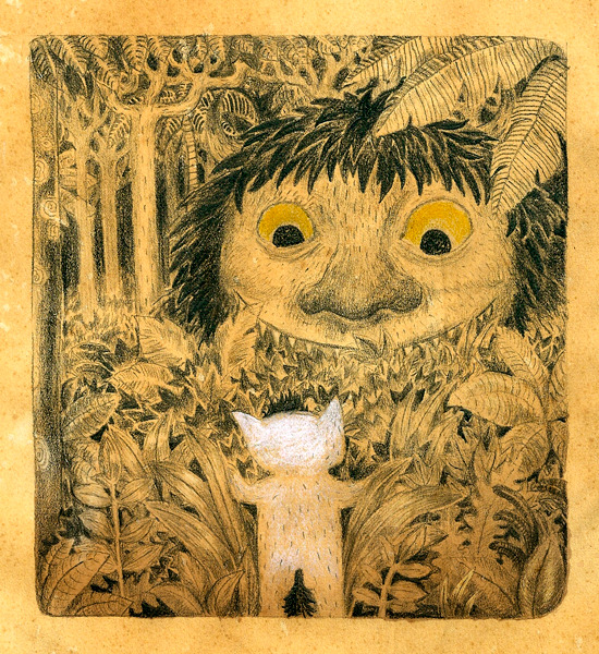 I made this a couple of years ago for Cory Godby's Where the Wild Things Are tribute blog Terrible Yellow Eyes, it seemed appropriate to put it up today.