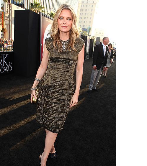 Michelle Pfeiffer, looking foxy at yesterday's Dark Shadows premiere in L.A. Get more red carpet photos — including shots of Johnny Depp and Chloe Moretz — in our gallery.