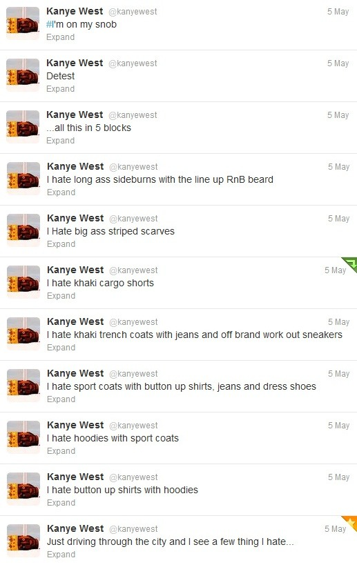 abitere:  laughed so hard actually  So I guess Kanye hates hoodies haha