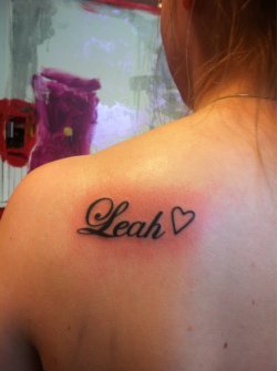 My friend got her first tattoo today! Her daughters name!