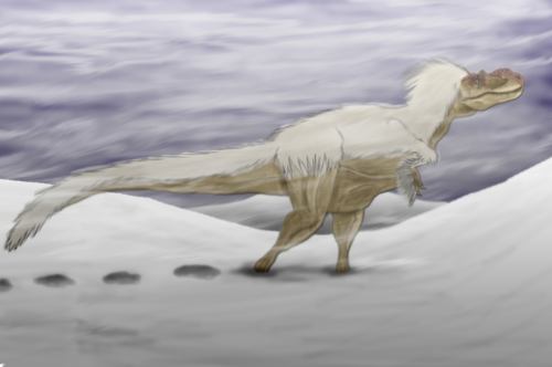 fuckyeahdinoart:  The Lonely Wanderer by ~Sketchy-raptor  How come this looks like something from Avatar?