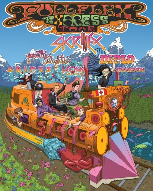 Diplo, Grimes, Skrillex to Tour on Full Flex Express throughout Canada this coming July