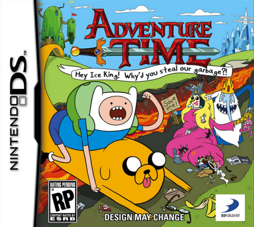 gameandgraphics:  Adventure Time video game box art unveiled!! The game will be released for DS and 3DS this fall. You'll find all the info here.  OH MY GLOB!! I WANT THIS!!!