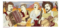 Mumford and Sons Gretchen Pearson http://gretchenpearsonillustration.tumblr.com/