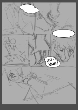 Vague sketch of page 7. Just to let you know I'm still on the comic!