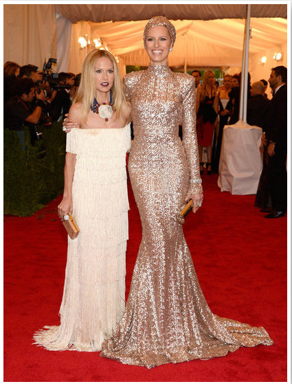 rachelzoe:  Did you catch the coverage from the Met Gala last night? It was such an incredible evening, made all the more glamorous with Karolina Kurkova as my date! I wore an RZ Collection dress of tiered fringe, Brian Atwood shoes and clutch and David Webb jewelry.  Karolina stole the show in her custom, one-of-a-kind RZ Collection gown and turban and Fred Leighton jewelry—she could not have been more perfect! xoRZ
