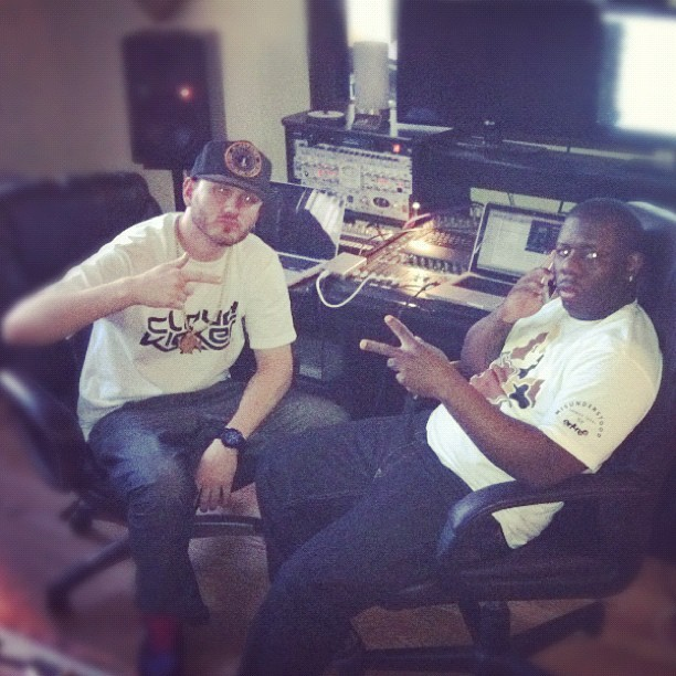 Me & @therealbuckwild in the studio #Pittsburgh #abovetheweather  (Taken with instagram)