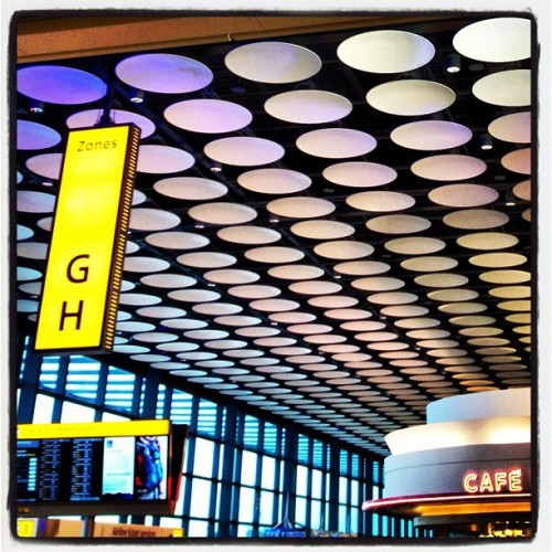 Heathrow Disco Polkadots (Taken with Instagram at London Heathrow Airport (LHR))