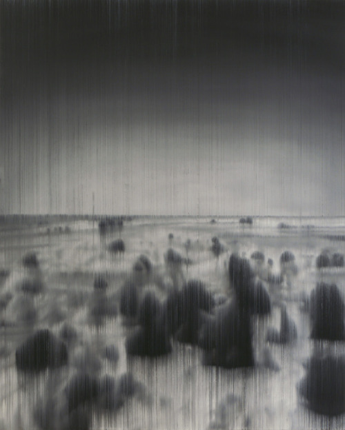 mondonoir:  Takuma Akihito, Lines of Flight to the Sahara, op 323, Oil on canvas, 2010