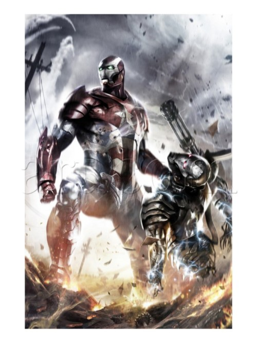 Iron Patriot Destroys WAR Machine  By : Art.com