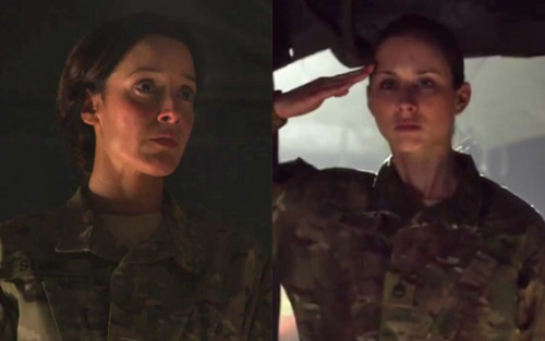 Yes, lesbians, that was a fatigues-wearing Jennifer Beals dressing down an also fatigued-clad Pretty Little Liars star Troian Bellisario. Cue massive lesbian fainting in 5, 4, 3, 2, 1… - Dorothy Snarker  Jennifer Beals, Troian Bellisario and more women we love on our computer screens