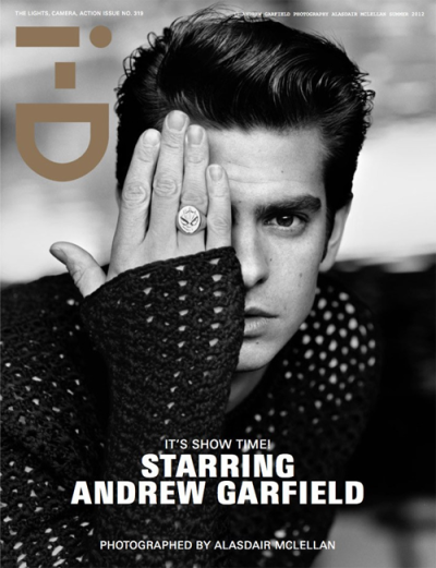 Andrew Garfield takes the cover of i-D's Summer 2012 issue, available online now and on newsstands May 10.
