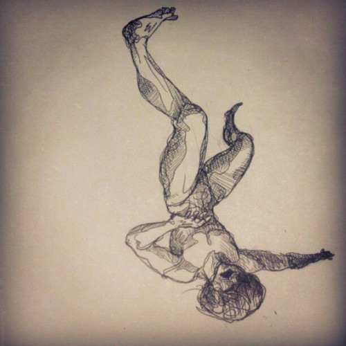 Just a falling man. #drawing #Illustration  (Taken with instagram)