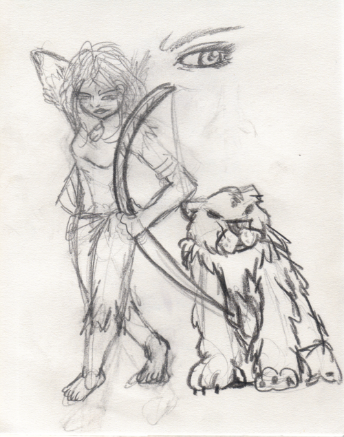Really old sketch, back in 2008. I feel the need to share this. I found this in one of my old sketch books. This was my imaginative interpretation sketch of The Bear and the Bow right after Pixar's announcement of the film. There was no concept art released, only their announced description of the upcoming movie at that time. It's 2012 now and the movie is now called Brave. Very different than of what I imagined the characters to be like back then, but as a huge Pixar fan, I'm still watching it opening day.