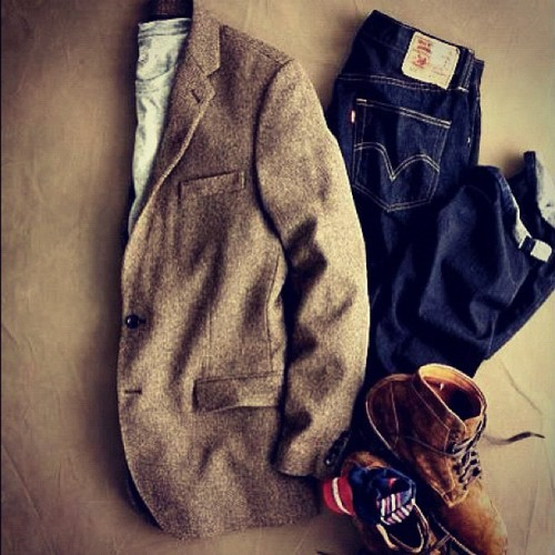 redwingshoesamsterdam:  think-the-opposite: #redwing #levi's #selvedge #denim