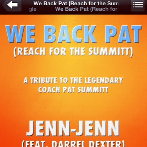 #download #music #charity #love #basketball #patsummit Proceeds being donated to The Pat Summit Foundation #help @jennhyphenjenn  (Taken with Instagram at The Pussy Palace)