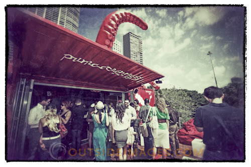 Social get-together today in the Volvo Ocean Race Village, Miami hosted by PUMA. Great place to meet and tweet about the up coming events