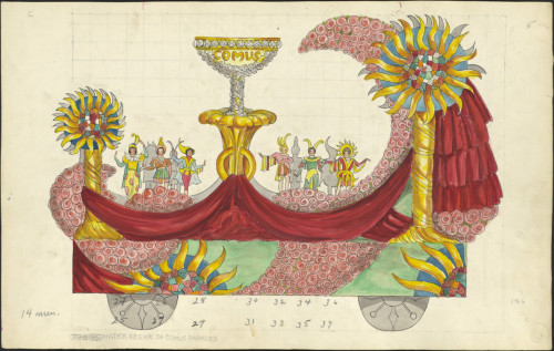Mistick Krewe of Comus, 1956 float design.