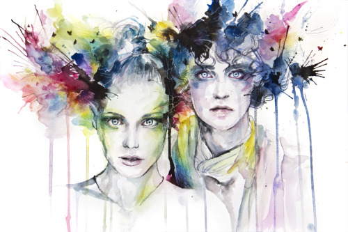 girlgoesgrrr:  agnes-cecile:  Skies On Fire  ……………..Art saves