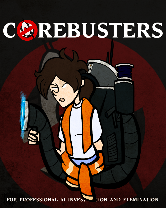 pturretdactyl:  Who're ya gonna call? Chell~ Gotta give credit to testchamber19; she had the idea!