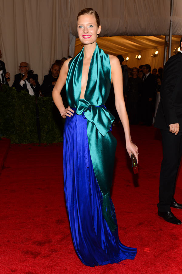 labellefabuleuse:  Constance Jablonski in Haider Ackermann at the Met Gala, May 2012