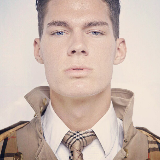 @austinhowd # fashion test at iixi Studios. # lowereastside #newyork #tie and #coat  by #burberry povided by @maidenseoul  (Taken with instagram)