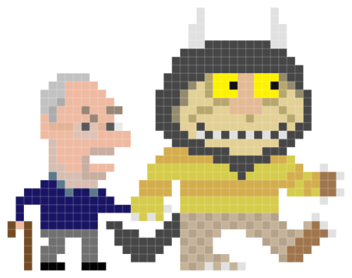 Thank you, Maurice. 8-bit Maurice Sendak illustrated by Andy Rash :: via iotacons.blogspot.ca
