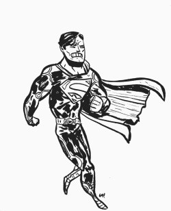 Here. I drew Superman. In a strange costume. Click on it if you want the full-size version to color.