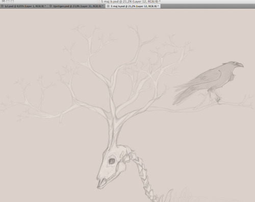 I'm drawing a tree~ (WIP)