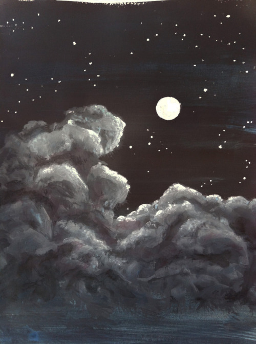 stickynights: acrylics.