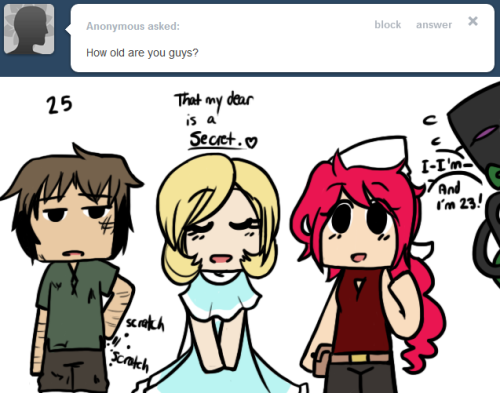 Olivia: We're still pretty young compared to most, haha. Enderley: U-um.. Olivi— Olivia: But I know Starla and I are at least pretty mature for our age! Starla: Yes.. let's go with that Olivia darling.