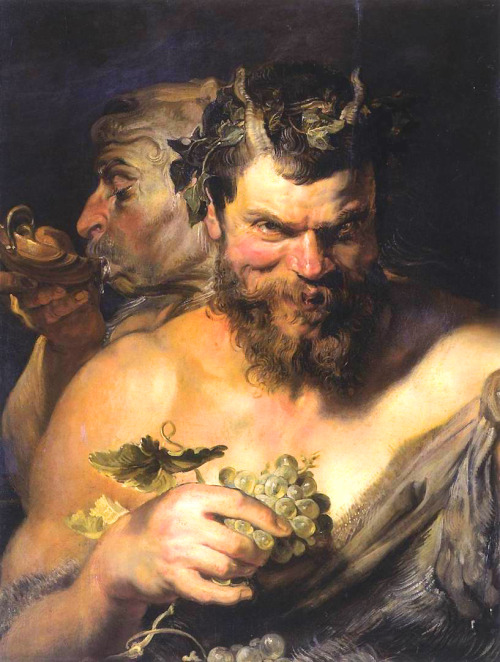 bluebaroque:  Peter Paul Rubens - Two Satyrs (1618-1619)