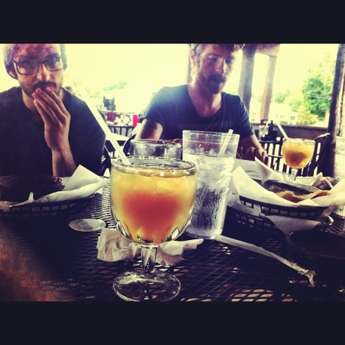 Enjoying some margaritas before the show.  (Taken with instagram)