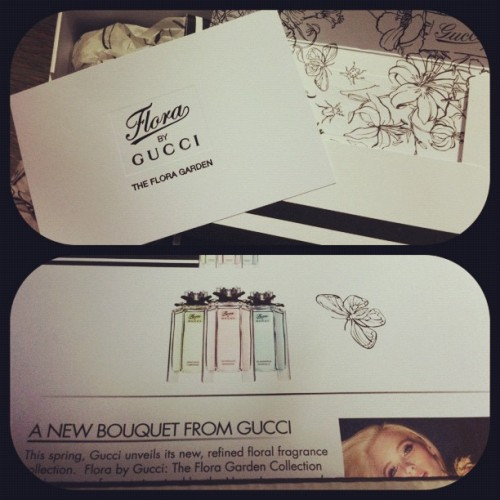 #imabzzagent Gucci Flora Garden came in the mail today! (Taken with instagram)