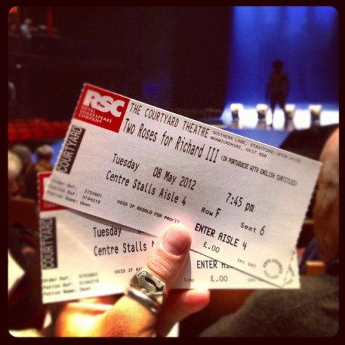 Two Roses for Richard in Portuguese. #wsf2012 (Taken with Instagram at RSC Courtyard Theatre)