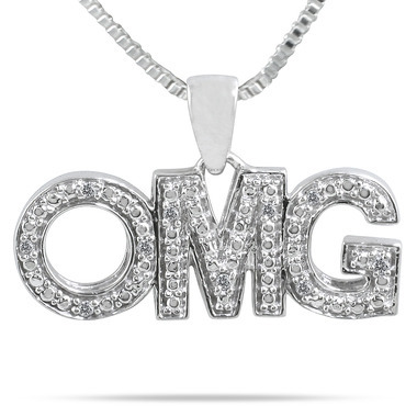 OMG Diamond Pendant Skymall Jewelry, always on the cutting edge of what the kids are into these days.