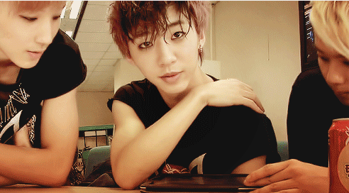 bapandtheirbabies:  YongGuk looks so precious in the first frame of that GIF I just reblogged