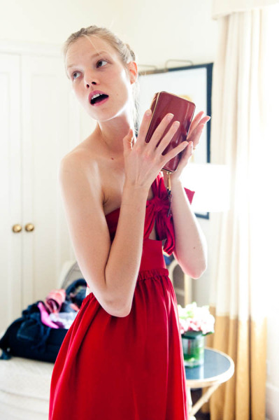Suvi Koponen photographed by The Coveteur at a Chloé fitting for the 2012 MET Gala