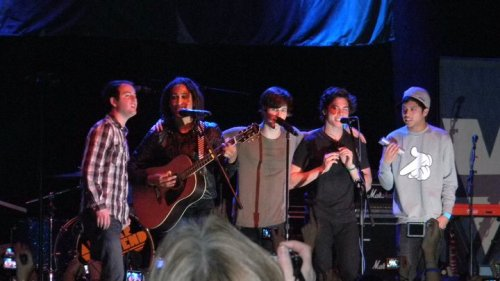 Allstar Weekend group shot from when Nathan was in the band. I'm not really sure which show it was from. I'm pretty sure it was at Rams Head in Baltimore though.