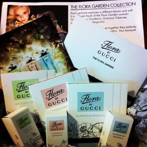#imabzzagent Flora by Gucci the Flora Garden. Everything I received #free  (Taken with instagram)