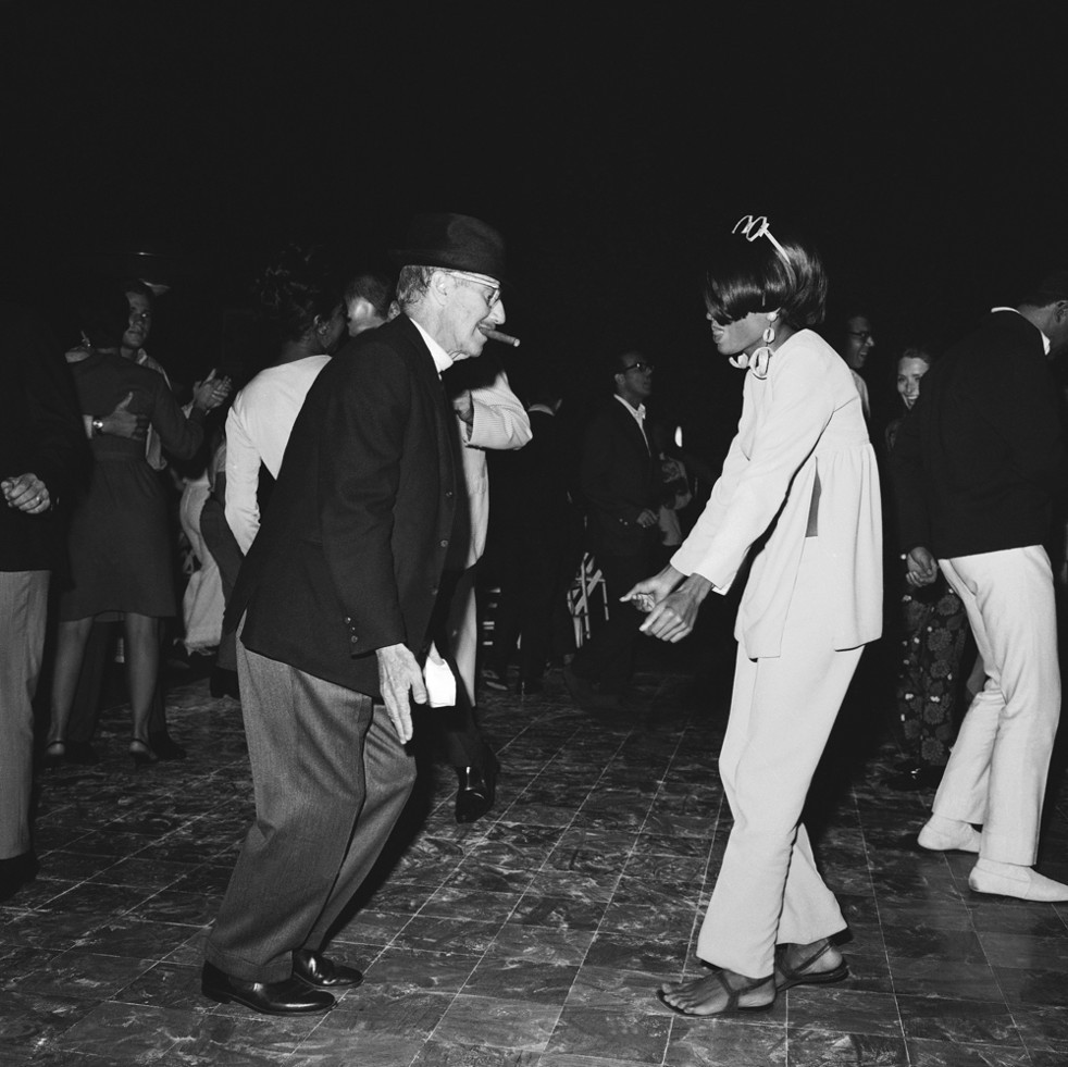 Groucho Marx dancing with Diana Ross.