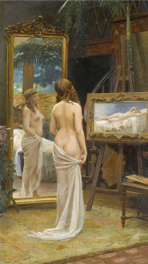 Nikolai Kornilievich Bodarevsky (1850-1921) - Nude in the Studio