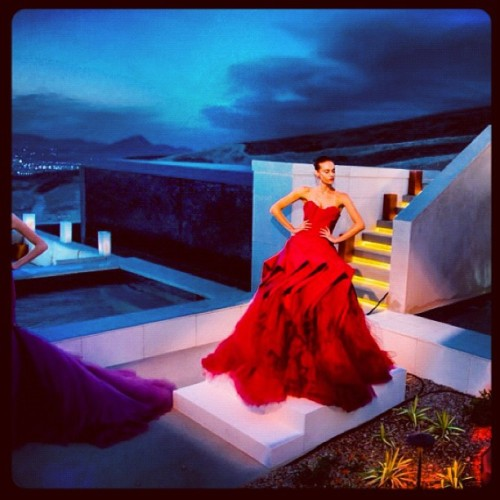 A moment from our Zac Posen fashion show in Las Vegas. (Taken with Instagram)